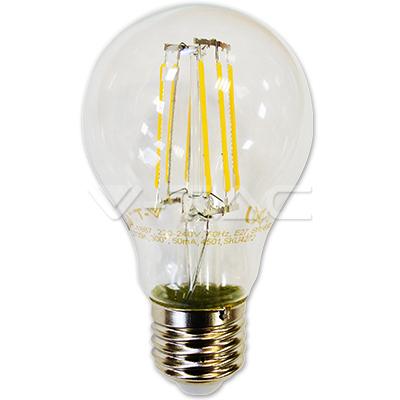 v-tac VT-1887 LAMPADINA LED E27 FILAMENTO 6W BIANCO CALDO 300 GRADI LED4272