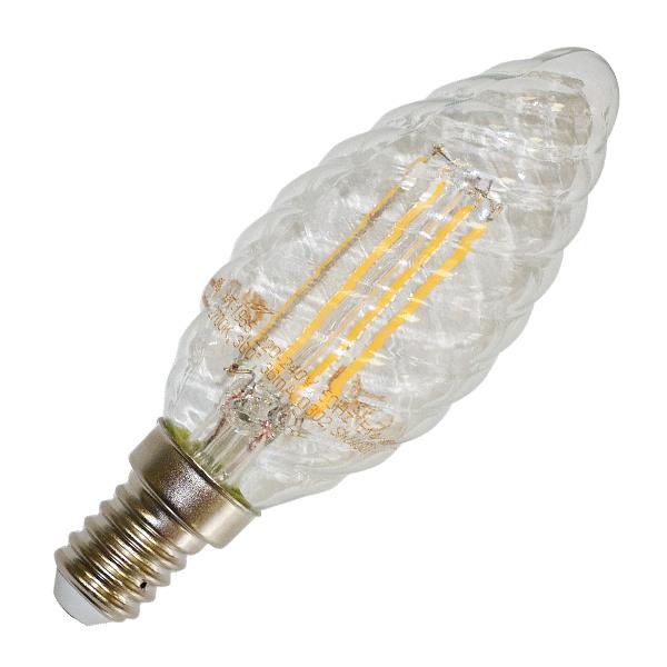 v-tac VT-1985 LAMPADINA LED E14 4W FILAMENTO CALDA A TORTIGLIONE LED4307