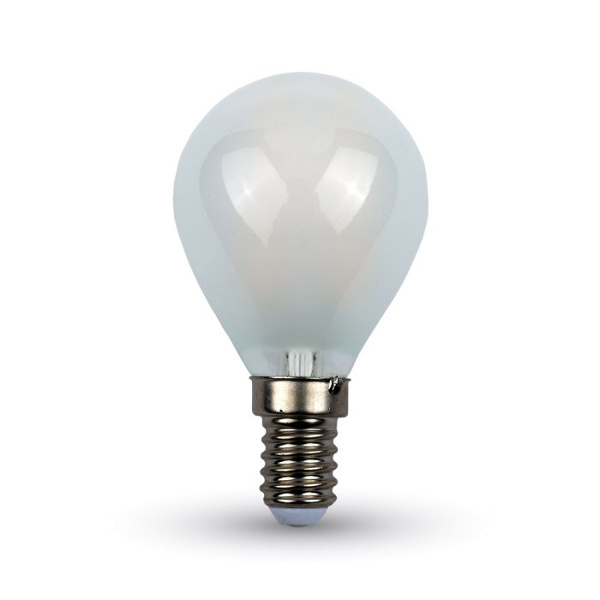 v-tac VT-1835 LAMP. LED E14 4W FIL. CROSS OPACA BIANCO CALDO A BULBO LED44921