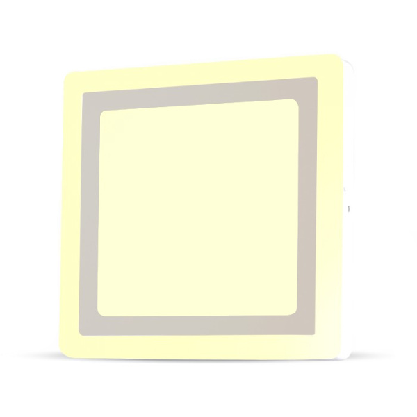 v-tac VT-2209SQ MINI PANNEL SUPERF. BILED 19W E 3W BIANCO CALDO QUADRAT LED4928