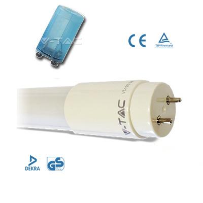 v-tac VT-1285SMD TUBO A LED NANOPLASTICA 18W BIANCO NATURALE 120CM 2300L LED6304
