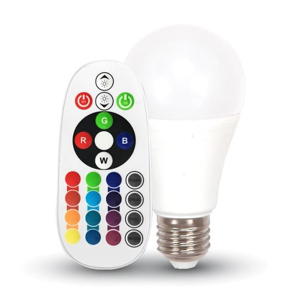 v-tac VT-2022 LAMPADINA LED E27 6W BIANCO FREDDO MULTICOLORE RGB LED7151