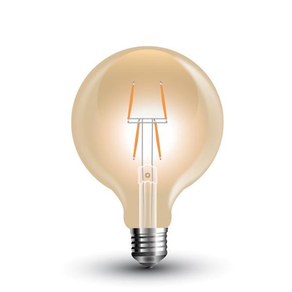 GLOBO LED E27 4W FIL. VINTAGE AMBRATA BIANCO CALDO