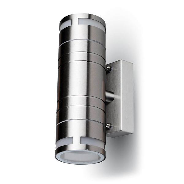 v-tac VT-7632 LAMPADA DA PARETE 2 ATTACCO GU10 INOX LED7504