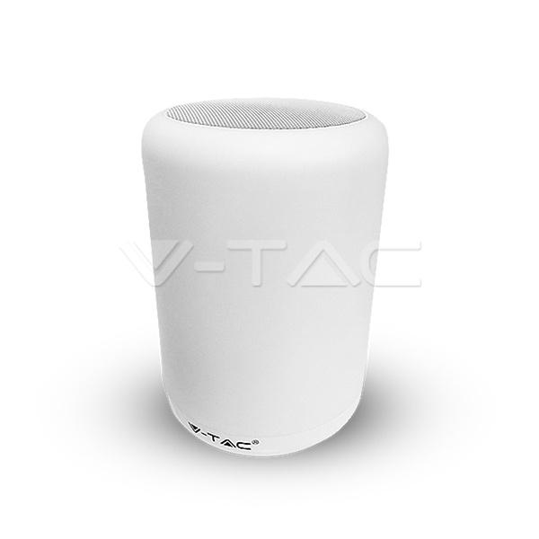 v-tac VT-1045 LAMPADA DA TAVOLO LED 5W RGB CON BLUETOOTH  CASSA BIANC LED8513