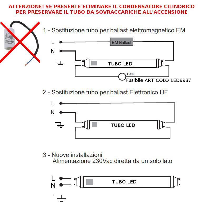 Schema Elettrico Plafoniera Neon : V tac tubo a led per carni w rosa cm vt