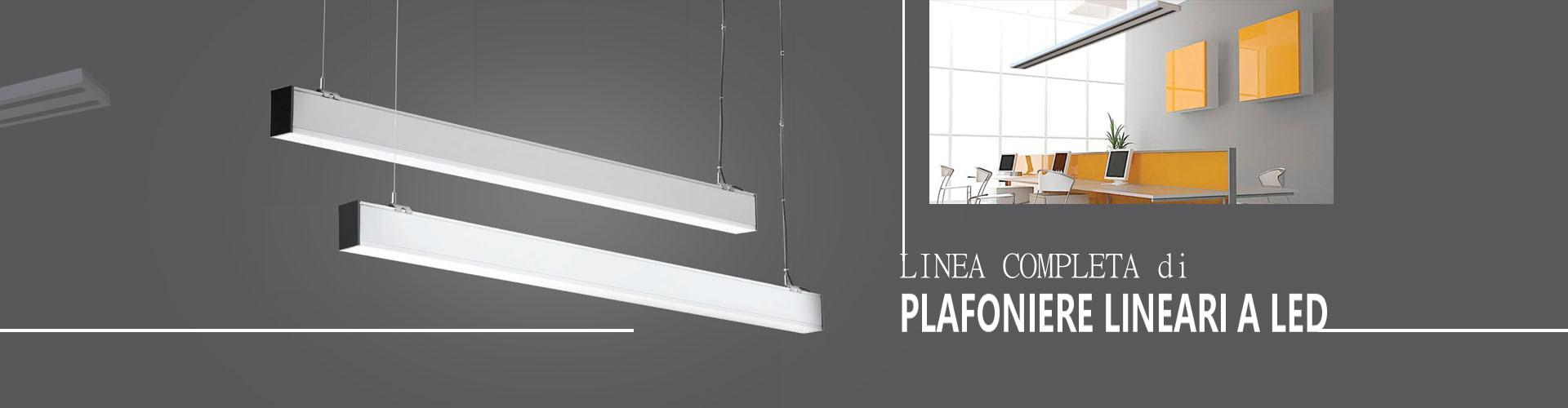 Plafoniere lineari a LED professionali prodotte da V-TAC