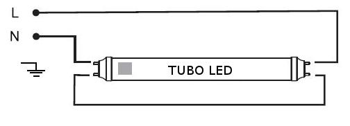 Schema Elettrico Per Tubi A Led : V tac plafoniera per n tubo led da cm vt