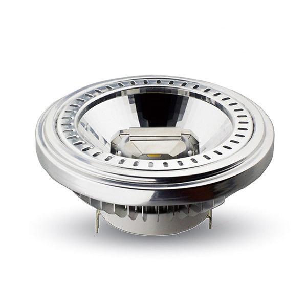 LAMPADINA LED AR111/G53 15W BIANCO CALDO 20 GRADI