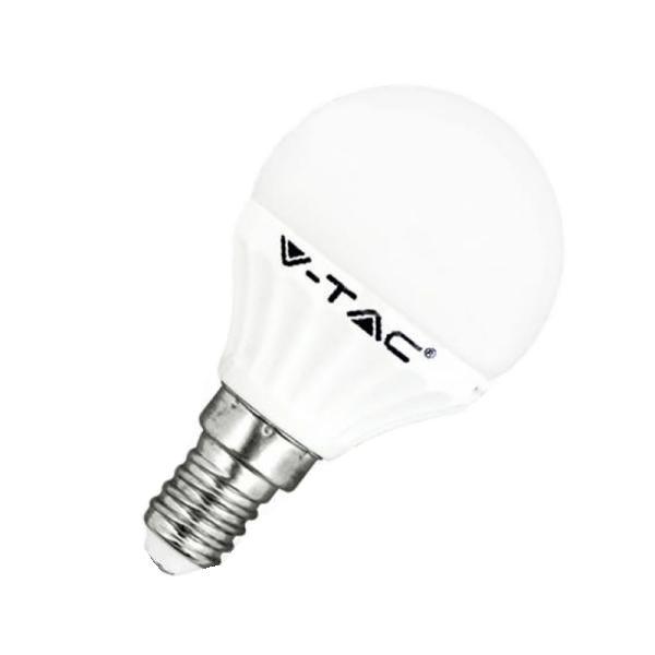 v-tac VT-1819 LAMPADINA LED E14 4W BIANCO FREDDO A BULBO LED4124