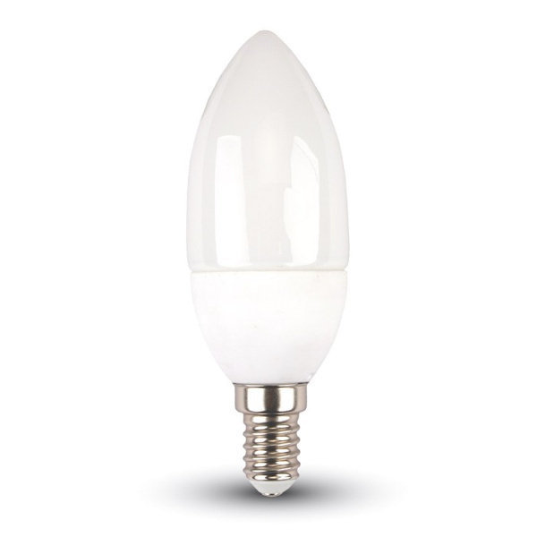 v-tac VT-1855 LAMPADINA LED E14 6W NATURALE A CANDELA LED42581