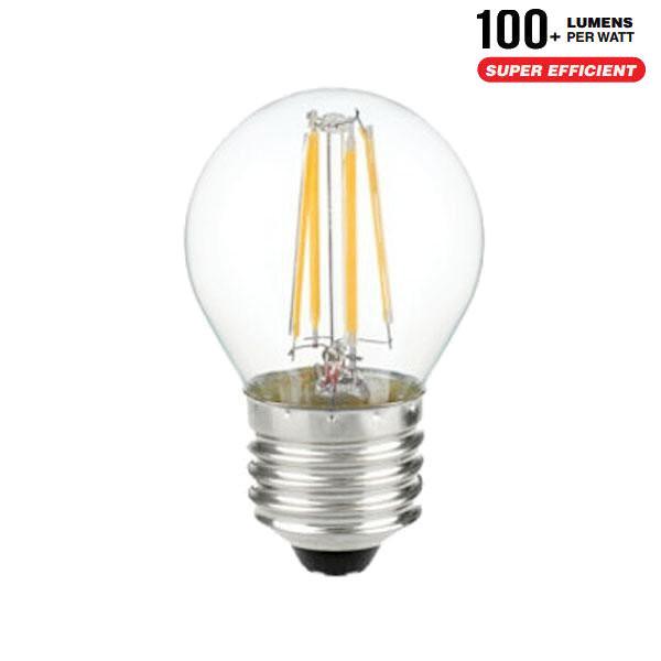 v-tac VT-1980 LAMPADINA LED E27 4W FILAMENTO BIANCO CALDO A BULBO LED4306