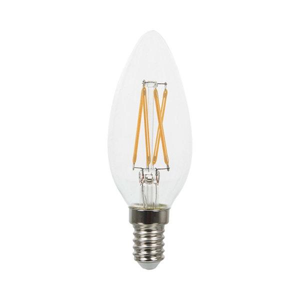 v-tac VT-1986 LAMPADINA LED E14 4W FILAMENTO CALDA A CANDELA LED4301