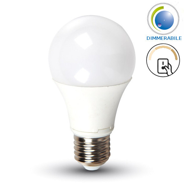 v-tac VT-2011 LAMPADINA LED E27 9W BIANCO NATURALE DIMMERABILE A STEP LED4448