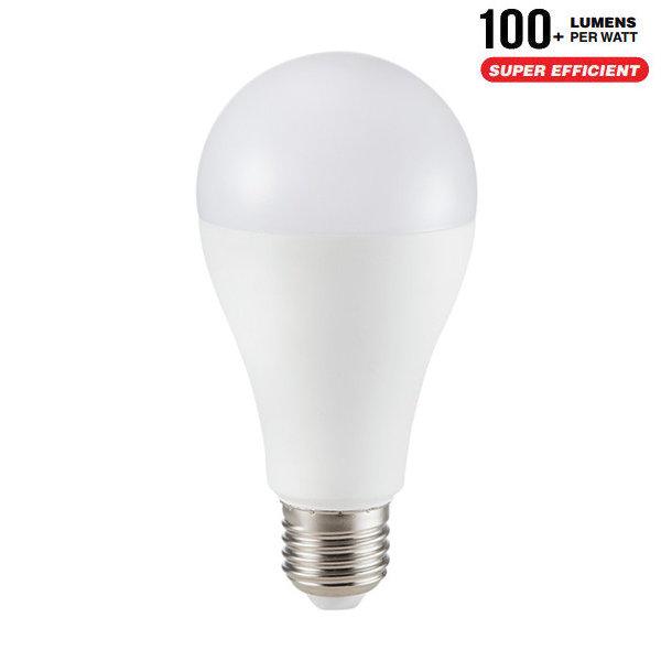 v-tac VT-2017 LAMPADINA LED E27 A65 17W BIANCO CALDO 200 GRADI  LED4456