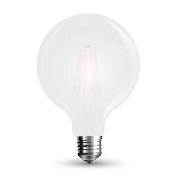 v-tac VT-2067 GLOBO LED E27 7W FILAMENTO BIANCO FREDDO G125 SATINATA LED7190