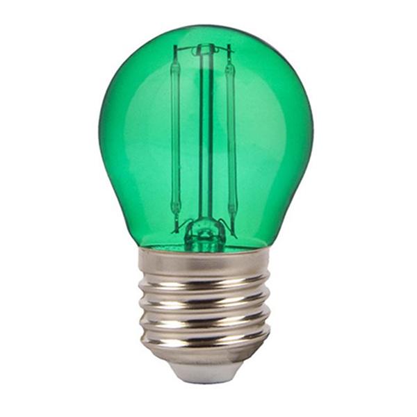 v-tac VT-2132 LAMPADINA LED E27 2W FILAMENTO VERDE A BULBO LED7411