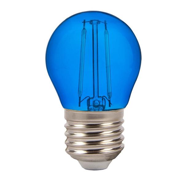 V tac lampadina led e27 2w filamento blu a bulbo vt 2132 for Lampadina led blu