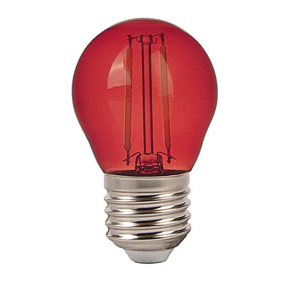 v-tac VT-2132 LAMPADINA LED E27 2W FILAMENTO ROSSA A BULBO LED7413