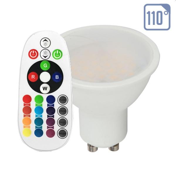 v-tac VT-2244 LAMPADINA LED GU10 3,5W A MINIBULBO MULTICOLORE RGB E NATURALE RADIOCOMANDO LED2779