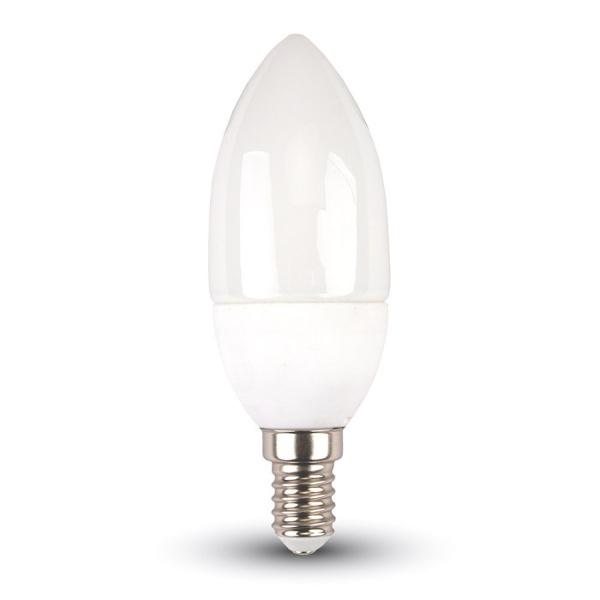 v-tac VT-226 LAMP. LED E14 5,5W BIANCO CALDO A CANDELA CHIP SAMSUNG LED171