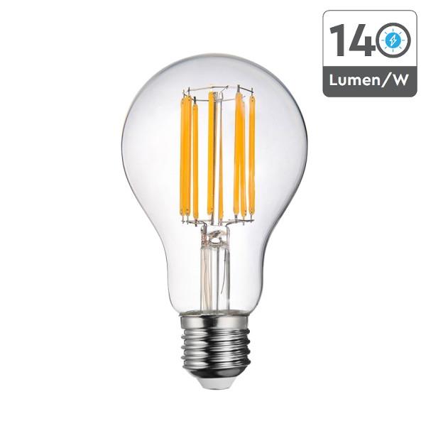 v-tac VT-2328 LAMPADINA LED E27 BULBO A67 18W FILAMENTO CALDA LED2802