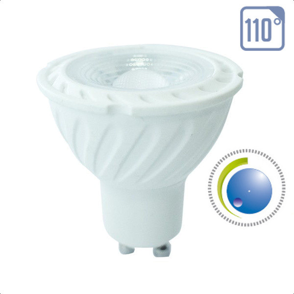 v-tac VT-247D LAMP. LED GU10 6,5W 110 GRADI B.FREDDO DIMMERABILE SAMSUNG LED200
