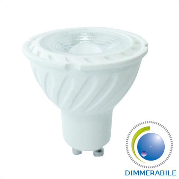 v-tac VT-247D LAMP. LED GU10 6,5W 110 GRADI B.FREDDO DIMMERABILE SAMSUNG LED200