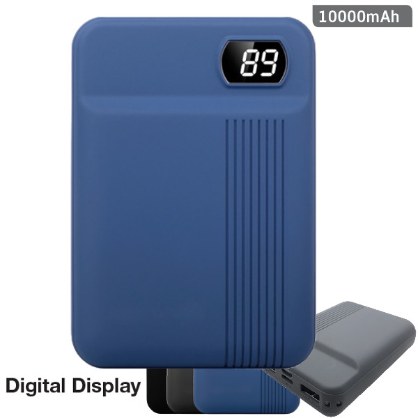 v-tac VT-3504 POWER BANK RICARICA CELLULARI 10000MAH 2USB BLU DISPLAY LED8853