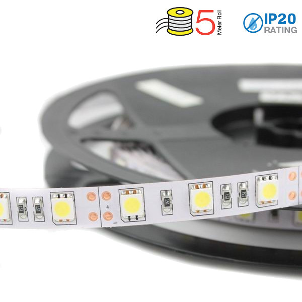 v-tac VT-5050IP20300 STRISCIA 300 LED BIANCO 5 METRI NON IMPERMEABILE LED2126