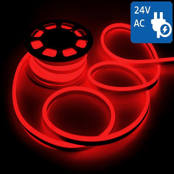 v-tac VT-555 NEON FLEX 24V 1200 LED ROSSO 10 METRI IMPERMEABILE LED2516
