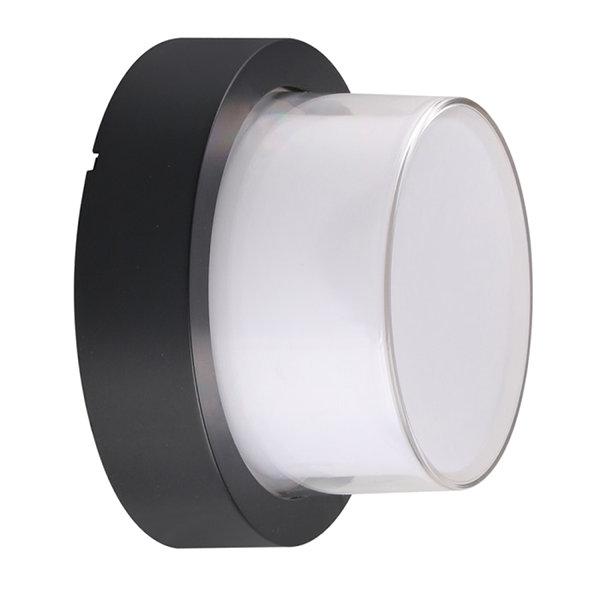 v-tac VT-828 LAMPADA LED 12W TONDA BIANCO NATURALE NERA IP65 LED8542
