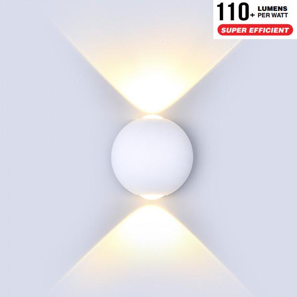 v-tac VT-836 LAMPADA LED 6W UP DOWN BIANCO CALDO BIANCA LED8301