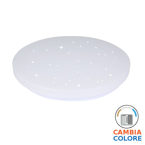v-tac VT-8424 PLAFONIERA LED TONDA 24W 3 IN 1 EFFETTO STELLATO LED7606