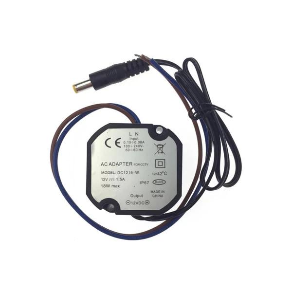 xsecurity  ALIMENTATORE 12VDC 1,5A 18W COMPATTO IP67 VISDC1215-W